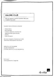 Rb Vita - Valore Club - Modello 7342 Edizione 01-2006 [SCAN] [40P]
