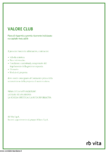 Rb Vita - Valore Club - Modello 7342 Edizione 07-2010 [56P]
