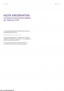 Rsa - Nota Informativa Globale Fabbricati Civili - Modello 1329-n Edizione 01-09-2011 [12P]