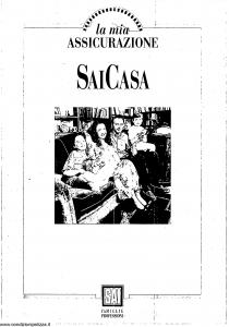 Sai - La Mia Assicurazione Sai Casa - Modello 7157-1 Edizione 09-1995 [40P]