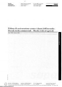 Sapa - Assicurazione Contro Danni Incendio Piccoli Rischi Commerciali Rischi Civili E Agricoli - Modello p-049 Edizione 02-1995 [6P]