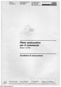 Sapa - Piano Assicurativo Per Il Commercio - Modello p-2230 Edizione 12-1990 [SCAN] [37P]