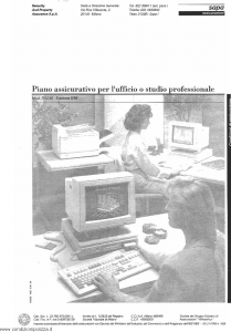 Sapa - Piano Assicurativo Per L'Ufficio O Studio Professionale - Modello p-2236 Edizione 05-1995 [SCAN] [22P]