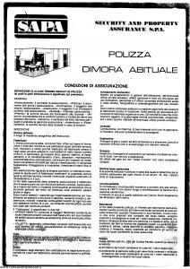 Sapa - Polizza Dimora Abituale - Modello nd Edizione nd [SCAN] [5P]
