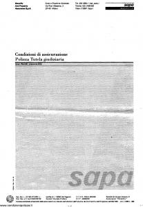 Sapa - Polizza Tutela Giudiziaria - Modello p-2346 Edizione 06-1994 [SCAN] [5P]