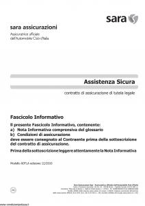 Sara - Assistenza Sicura - Modello 60tla Edizione 12-2010 [14P]