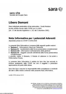 Sara - Libero Domani - Modello v394a Edizione 24-05-2018 [120P]