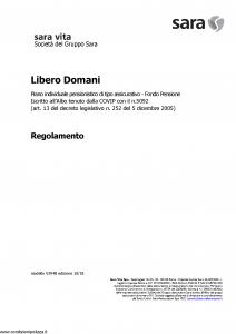 Sara - Libero Domani - Modello v394b Edizione 10-2018 [14P]