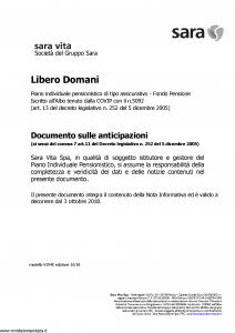 Sara - Libero Domani - Modello v394e Edizione 10-2018 [11P]