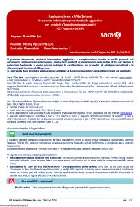 Sara - Money Up Tariffa 105 Dip Aggiuntivo - Modello v386d Edizione 01-01-2019 [5P]