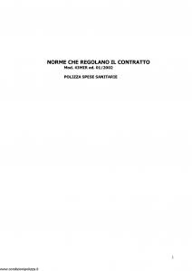 Sara - Polizza Spese Sanitarie - Modello 43mir Edizione 01-2002 [7P]