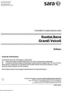 Sara - Ruota Libera - Modello 60rlgv Edizione 03-2014 [31P]