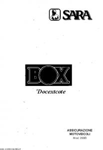 Sara - Sara Box Docextcote - Modello 258-b Edizione 04-2002 [SCAN] [48P]
