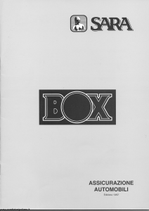 Sara - Sara Box - Modello 250-a Edizione 10-1997 [42P]