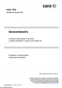 Sara - Sara Conto Extra (Tariffa 103) - Modello v370r Edizione 01-01-2019 [13P]