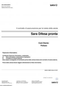 Sara - Sara Difesa Pronta - Modello 100sdp Edizione 01-2015 [33P]
