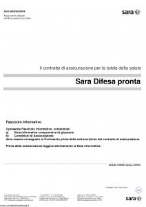 Sara - Sara Difesa Pronta - Modello 100sdp Edizione 03-2016 [26P]