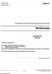 Sara - Sara In Casa - Modello 60sic Edizione 01-2015 [32P]