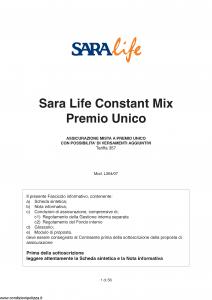 Sara - Sara Life Constant Mix Premio Unico - Modello l364-07 Edizione 03-2007 [56P]