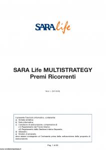 Sara - Sara Life Multistrategy Premi Ricorrenti - Modello l361-06b Edizione nd [50P]