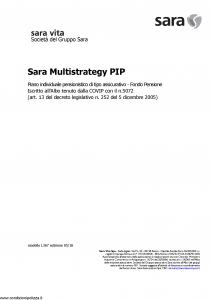 Sara - Sara Multistrategy Pip - Modello l367 Edizione 05-2018 [49P]