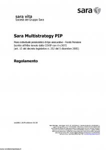 Sara - Sara Multistrategy Pip - Modello l367b Edizione 03-2018 [14P]