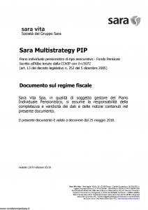 Sara - Sara Multistrategy Pip - Modello l367d Edizione 05-2018 [7P]