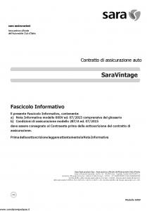 Sara - Sara Vintage - Modello 60sv Edizione 07-2015 [31P]