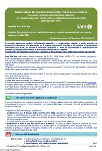 Sara - Saradoppiovalore A Capitale Decrescente E Premio Annuo Costante Dip Aggiuntivo - Modello v393d Edizione 01-01-2019 [6P]