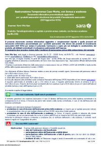 Sara - Saradoppiovalore A Capitale E Premio Annuo Costante Dip Aggiuntivo - Modello v396 Edizione 01-01-2019 [6P]