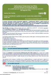 Sara - Saratutelavita A Capitale Decrescente E Premio Annuo Costante Limitato Dip Aggiuntivo - Modello v391d Edizione 01-01-2019 [6P]