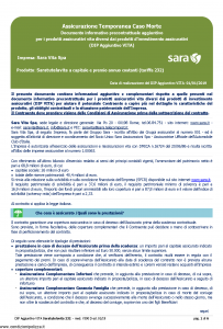 Sara - Saratutelavita A Capitale E Premio Annuo Costanti Dip Aggiuntivo - Modello v390d Edizione 01-01-2019 [6P]