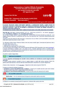 Sara - Tfm Trattamento Di Fine Mandato Tariffa 531M Dip Aggiuntivo - Modello v327m Edizione 01-01-2019 [6P]