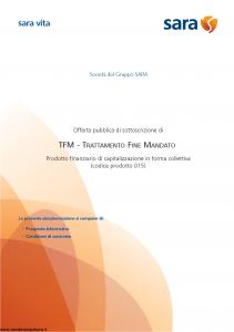 Sara - Tfm Trattamento Fine Mandato - Modello v327m Edizione 19-06-2009 [43P]