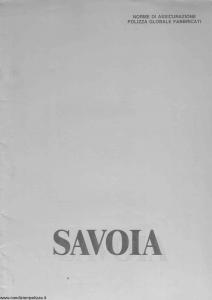 Savoia - Polizza Globale Fabbricati - Modello ap0021a Edizione 10-1990 [SCAN] [10P]