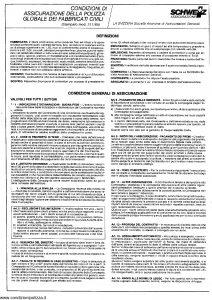 Schweiz - Polizza Globale Fabbricati Civili - Modello 211 Edizione 1985 [SCAN] [4P]