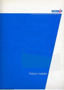 Schweiz - Polizza Malattie - Modello 192-90 Edizione nd [SCAN] [9P]