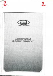 Siad - Assicurazione Globale Fabbricati - Modello 0401.739 Edizione nd [SCAN] [14P]