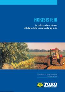 Toro - Agrisistem Polizza Futuro Azienda Agricola Ver.1 - Modello pb59a100.108 Edizione 2008 [34P]