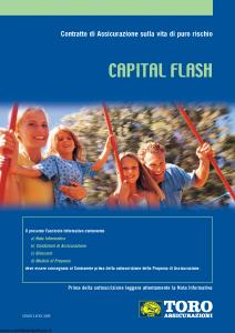 Toro - Capital Flash Contratto Di Assicurazione Sulla Vita Di Puro Rischio - Modello cb001109.308 Edizione 29-02-2008 [24P]