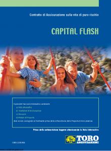 Toro - Capital Flash Contratto Di Assicurazione Sulla Vita Di Puro Rischio - Modello cb001109.906 Edizione 31-07-2006 [24P]