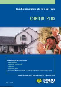 Toro - Capital Plus Contratto Di Assicurazione Sulla Vita Di Puro Rischio - Modello cb001113.408 Edizione 30-04-2008 [40P]