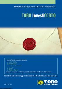 Toro - Investicerto - Modello ar001367.908 Edizione nd [34P]