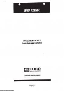 Toro - Linea Aziende Polizza Elettronica Impianti E Apparecchiature - Modello pb036600.d94 Edizione 01-2001 [SCAN] [21P]