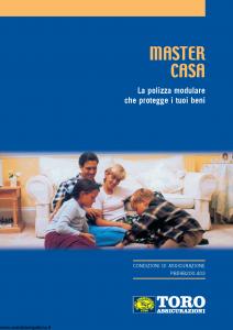 Toro - Master Casa Polizza Modulare Che Protegge I Tuoi Beni - Modello pb59b200.403 Edizione 2003 [44P]