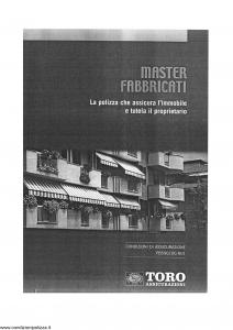 Toro - Master Fabbricati Polizza Che Assicura L'Immobile E Tutela Il Proprietario - Modello pb59g100.n01 Edizione 2001 [SCAN] [22P]