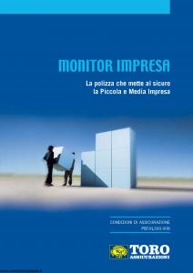 Toro - Monitor Impresa La Polizza Che Mette Al Sicuro La Piccola E Media Impresa - Modello pb59l300.908 Edizione 2008 [82P]