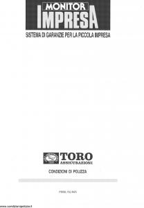 Toro - Monitor Impresa Sistema Garanzie Per La Piccola Impresa - Modello pb59l150.n93 Edizione 29-09-1993 [44P]