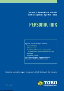 Toro - Personal Mix - Modello ar001252.407 Edizione 31-12-2008 [57P]