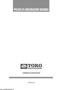 Toro - Polizza Assicurazione Incendio - Modello pb047662.993 Edizione 1993 [6P]